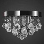 vidaXL Lustre plafonnier contemporain cristal lampe chromé design classique et élégant de la marque vidaXL image 1 produit