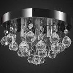vidaXL Lustre plafonnier contemporain cristal lampe chromé design classique et élégant de la marque vidaXL image 2 produit