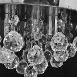 vidaXL Lustre plafonnier contemporain cristal lampe chromé design classique et élégant de la marque vidaXL image 3 produit