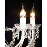 vidaXL Lustre vénitien baroque 12 feux 1600 cristaux lampe luminaire de la marque vidaXL image 4 produit