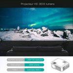 Vidéoprojecteur, projecteur ABOX A2 3000 lumens, 1080P Full HD, contraste 3000: 1, taille de l'écran 67-170 pouces, prise en charge HDMI, USB, carte SD, VGA, AV, téléphone portable, ordinateur portable, adapté à la maison et à l'extérieur Utiliser de la m image 3 produit