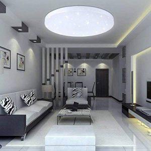 VINGO® 16W Plafonnier de salon LED Luminaire Intérieur Blanc Plafond de Salle de Bain, Cuisine, Couloir, Salon de la marque fsders image 0 produit