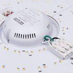 VINGO® 16W Plafonnier de salon LED Luminaire Intérieur Blanc Plafond de Salle de Bain, Cuisine, Couloir, Salon de la marque fsders image 4 produit