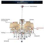 VINGO® 6-flamed Chandelier Pendentif LED Lustre de cristal Pendentif classique Lustre Pour Suspension brillant antique de la marque fsders image 1 produit