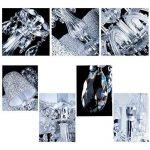 VINGO® 6-flamed Chandelier Pendentif LED Lustre de cristal Pendentif classique Lustre Pour Suspension brillant antique de la marque fsders image 3 produit