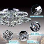 VINGO LED Lustre énergie plafonnier en cristal moderne lampe de plafond salon économie suspension réglable avec commande à distance de la marque fsders image 1 produit