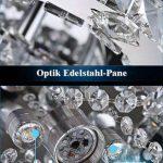 VINGO LED Lustre énergie plafonnier en cristal moderne lampe de plafond salon économie suspension réglable avec commande à distance de la marque fsders image 2 produit