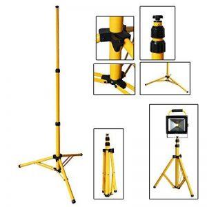 VINGO® Trépied télescopique extensible jusqu'à 160 cm pour LED Projecteur de chantier Projecteur Lampe de travail Lampe Phare Work de la marque fsders image 0 produit