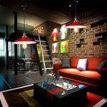 Vintage abat-jour en m¨¦tal industriel Loft Pendant Lamp Retro plafonnier Black Light Shade, Rouge Blanc de la marque ZN image 4 produit