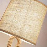 Vintage American Country Desktop lumière pour salon chambre chevet enfants livre décoratif lecture dormir corde de chanvre industrielle lampe de table tissu lampe de bureau de la marque KMYX image 4 produit