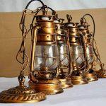 Vintage E27 Edison Kérosène Pétrole Lampe Suspensions Lèche-murs Vintage Applique Lampe Lanterne ampoule E27/E26 Diamètre 15,5 cm de la marque EUBEISAQI image 1 produit