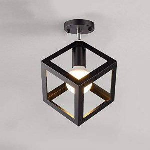 Vintage Industrial Edison Mini Peinture Lampe de plafond encastrée en métal Luminaire suspendu pour salon / chambre à coucher / Salle à manger / Cuisine / Lustre de salle de bain ( Color : Black 2 ) de la marque JRMJ Colorful WL image 0 produit