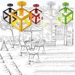 Vintage Industrial Edison Mini Peinture Lampe de plafond encastrée en métal Luminaire suspendu pour salon / chambre à coucher / Salle à manger / Cuisine / Lustre de salle de bain ( Color : Black 2 ) de la marque JRMJ Colorful WL image 1 produit