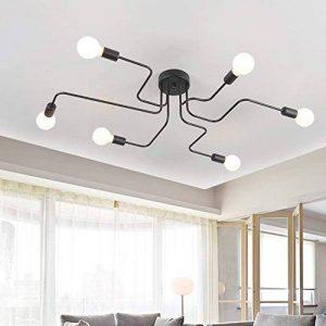 Vintage Lampe suspension OYI Industrie Lampe Plafonnier Lustre Luminaire Metal suspension Lustre Pour le salon salle à manger bar cafétéria 6 E27 Douille(Sans Ampoule ) de la marque OYI image 0 produit