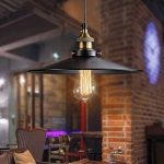 Vintage Retro Edison Loft Suspension Retro Industriel Plafonnier en fer laqué parapluie abat-jour style Land Art Lampe, 36 cm 220.00volts de la marque ShenShuai image 2 produit