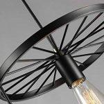 Vintage Rétro Conception Industrielle Luminaire pendentif Métal Forme de roue 5 cuiseur Lustre Créatif Fer Courbe Abat-jour de lampe Lampes suspendues Loft Décoratifs Luminaire 5 * Ø30 cm E27 de la marque YiKangZe image 4 produit