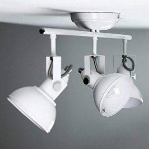 Vintage Spot pour fixation murale & plafond en blanc 3x E14style rétro Spot Plafond Pivotant de la marque Licht-Erlebnisse image 0 produit