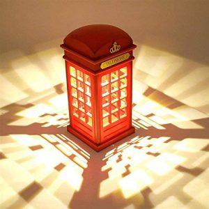 Vintage Style Lampe de Table Cabine Téléphonique de Londres Vintage USB Charge LED Lampe Touch Sensor Table Bureau Veilleuse Pour Chambre Etudiants Dortoir Eclairage Bar Décoration Salon Décor de la marque Maxsal image 0 produit