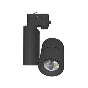 Vision-EL 78343 Spot LED sur Rail Noir 40W 3000°K, Aluminium/Verre, 40 W, Ø 95 mm de la marque Vision-EL image 0 produit