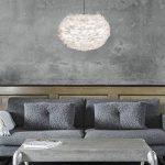Vita 02010 Eos Lampe Suspension Plumes d'Oies/Papier/Acier Blanc de la marque Vita image 4 produit