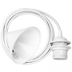 Vita 04005 Cordon pour Lampe Suspension Texture Textile 60 W E27 Blanc 2,1 m de la marque Vita image 0 produit