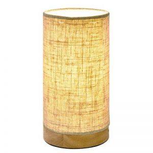 Viugreum Lin Lampe de Chevet, Minimalisme Atmosphère Esthétique Lampe de Bureau Bois Massif et Abat-Jour en Tissu pour Chambre à Coucher, Salon, Chambre de Bébé.etc de la marque Viugreum image 0 produit