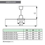 Vortice 61751Ventilateur de plafond réversible Nordik Evolution R, 120cm, 70W, Blanc de la marque Vortice image 1 produit