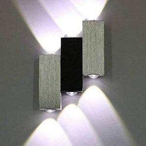 Warmcasa Applique Murale Moderne Up Down Cube Triple LED 6W pour Salon Chambre Cuisine Couloir (Blanc Froid) de la marque Warmcasa image 0 produit