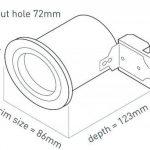 Wattlite Spot LED encastrable de plafond pour salle de bains à brancher sur secteur GU10 IP65 Blanc de la marque Wattlite image 1 produit
