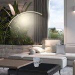 Wayking courbé arc LED lampadaire, éclairage arche dimmable éconergétique, lampe de stand moderne, lumière blanche chaude pour salon, chambre, bureau ou bureau – Argenté de la marque WAYKING image 2 produit
