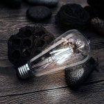 Wedna Blanc froid 6W E27LED Edison Ampoule, Verre, Lot de 4, E27 6.00W 220.00V de la marque WEDNA image 1 produit