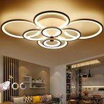 WEITING 110W 8 anneaux Super-mince Circel anneaux lampe de lustre plafonnier moderne salon salle de séjour lampe de plafond LED moderne lampe de lustres (L106XW78XH19 cm) , Dimmable de la marque WEITING image 1 produit