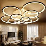 WEITING 110W 8 anneaux Super-mince Circel anneaux lampe de lustre plafonnier moderne salon salle de séjour lampe de plafond LED moderne lampe de lustres (L106XW78XH19 cm) , Dimmable de la marque WEITING image 2 produit