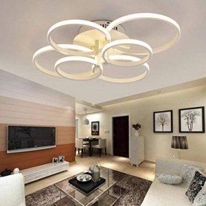 WEITING Super-mince Circle Rings Lampe à lustre plafonnier moderne lampe de salon salon moderne led plafonnier lustre lumières luminaires , Lumière froide , 6 head de la marque image 0 produit