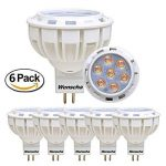 Wenscha spot de plafond MR16 6pcs 7W ampoule LED 4000K GU5.3 AC/DC 12V 550LM lampe Spot équivaaent ampoule Halogène 50W 7x2835 SMD [classe énergétique A ++] (blanc neutre) de la marque Wenscha image 0 produit