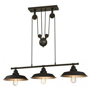 Westinghouse 6332540 Luminaire Suspendu à Poulies d'Intérieur à Trois Lampes, Verre, Bronze Huilé de la marque Westinghouse image 0 produit