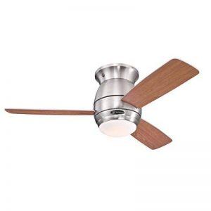 Westinghouse 7218140 Ventilateur de Plafond d'Intérieur, Kit d'Eclairage, Métal, Nickel Brossé de la marque Westinghouse image 0 produit