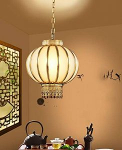 WFL Lustre en Cuivre Chinois Atmosphérique Classique Lustre Domestique Balcon Allée Porche Lumière Créatif Lanterne en Cuivre Lustre de la marque WFL image 0 produit