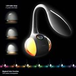 WILIT HZ T3 5W Lampe de Table Dimmable, Lampe de Bureau LED, Lampe de Chevet pour Enfants, Champ Tactile pour la Lumière de Couleur et 3 Niveaux de Luminosité, Confortable pour les Yeux, Blanc de la marque WILIT image 1 produit