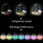 WILIT Q10 Lampe de Bureau LED USB Rechargeable, Lampe de Chevet 5W Dimmable pour Enfants, Contrôle Tactile pour 256 Couleurs et 3 Niveaux de Luminosité, Blanc de la marque WILIT image 1 produit