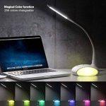 WILIT Q8B Lampe de bureau LED à intensité variable 6 W avec col de cygne, lampe de chevet tactile pour 3 niveaux de luminosité, adapté à la lumière Blanc de la marque WILIT image 3 produit