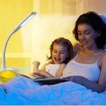 WILIT Q8B Lampe de bureau LED à intensité variable 6 W avec col de cygne, lampe de chevet tactile pour 3 niveaux de luminosité, adapté à la lumière Blanc de la marque WILIT image 4 produit