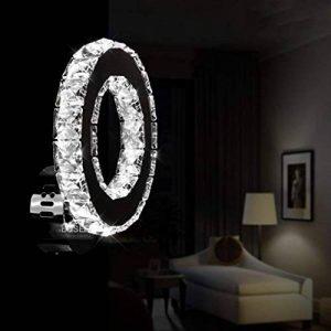 Willsego Creative LED Mur Lampe Chambre Lit Lampe en Acier Inoxydable Cristal Unique Murale Lampe Simple Salon Allée Lampes, BAI (coloré : -, Taille : -) de la marque Willsego image 0 produit