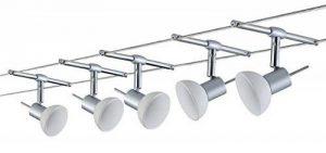 Wire System Set Sheela max 5x10W GU5,3 C hrome mat/Opale 230/12V 60VA Métal/Verre de la marque Paulmann image 0 produit