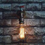 WMING Rétro Tuyau d'eau Lampe Murale Steampunk Antique Loft Industriel Bar Café Restaurant Salon Décoration Lampe (Pas D'ampoule) de la marque WMING image 3 produit