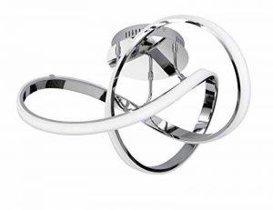 WOFI 9134.01.01.7000 Plafonnier, Aluminium, Integriert, 64 W, Chrom, 59 x 59 x 290 cm de la marque Wofi image 0 produit
