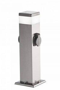 Wofi extérieur Lampe sur pied métal, intégré, 7W, en acier inoxydable brossé brut, 12,5x 12,5x 50cm de la marque Wofi image 0 produit