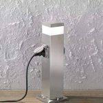 Wofi extérieur Lampe sur pied métal, intégré, 7W, en acier inoxydable brossé brut, 12,5x 12,5x 50cm de la marque Wofi image 1 produit