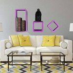 WOLTU RG9229or Lot de 3 Étagère Murale Salon du Cube rétro Étagère,étagère Cube Murale en Bois MDF, étagère CD DVD Murale,Blanc Orange de la marque WOLTU image 2 produit