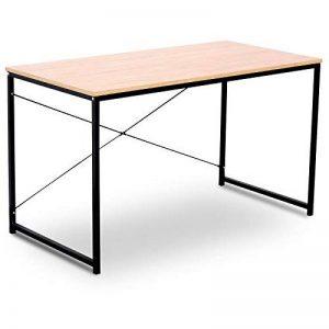 WOLTU TSB04hei Table de Bureau en Bois et Acier avec étagère Env. 120 x 60 x 70 cm de la marque WOLTU image 0 produit